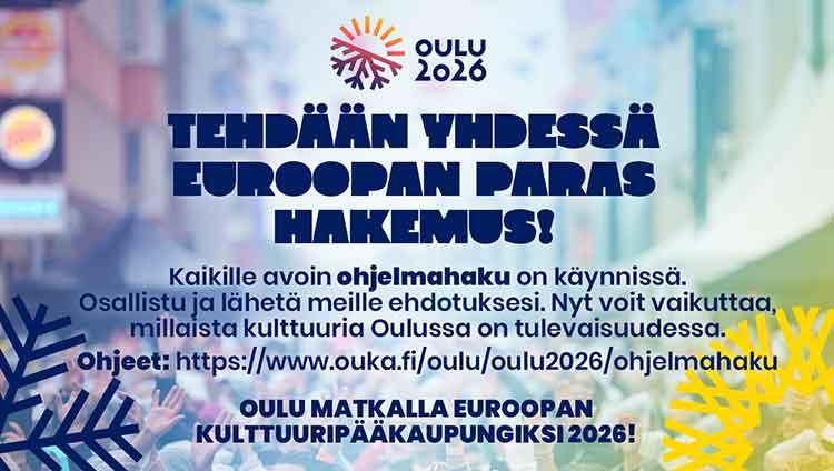 Oulu2026 odottaa sinunkin ideoitasi