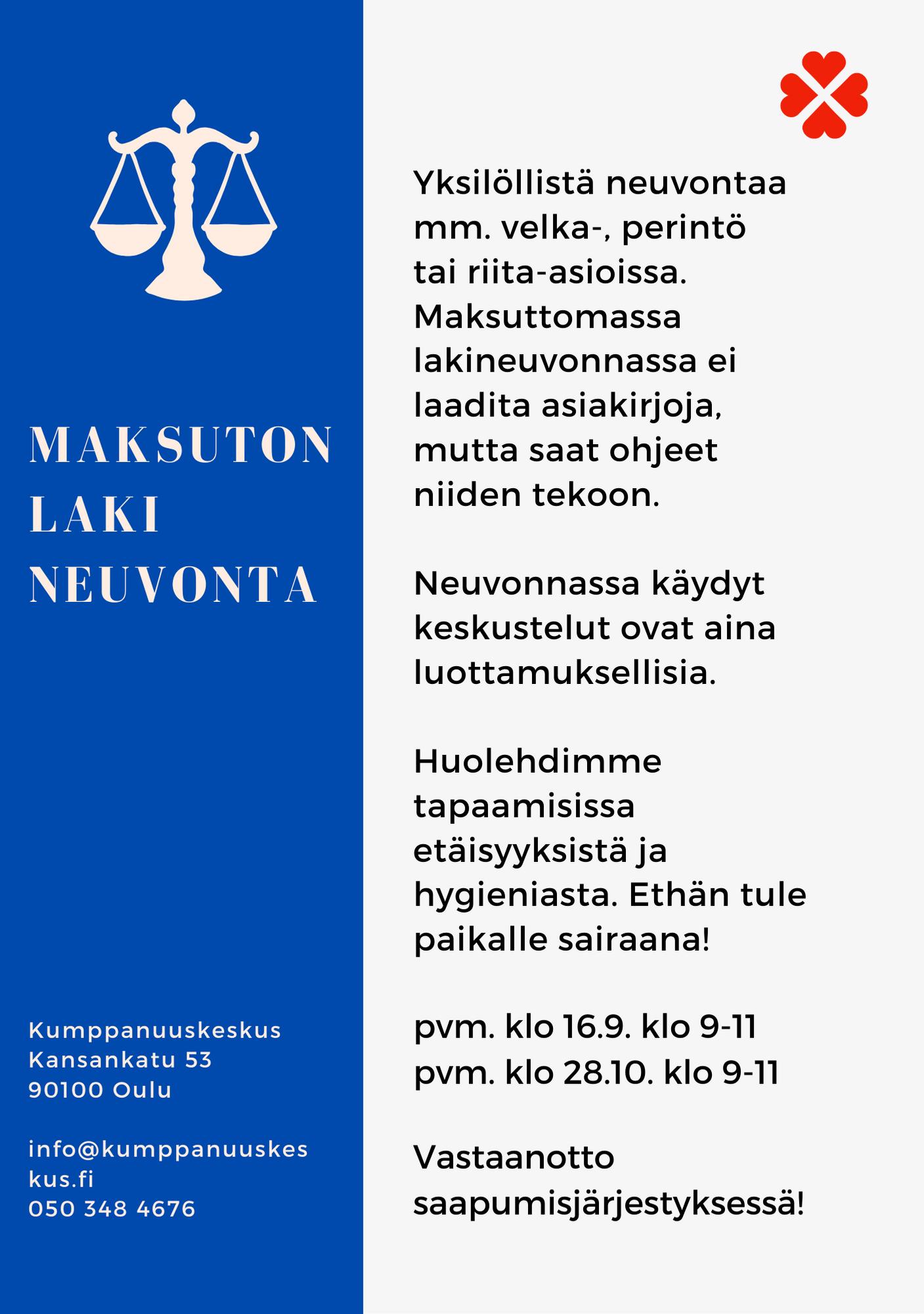 Maksuton Lakineuvonta