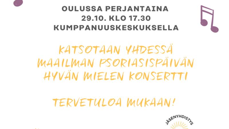 Psoriasisaiheisia tapahtumia Pohjois-Pohjanmaalla